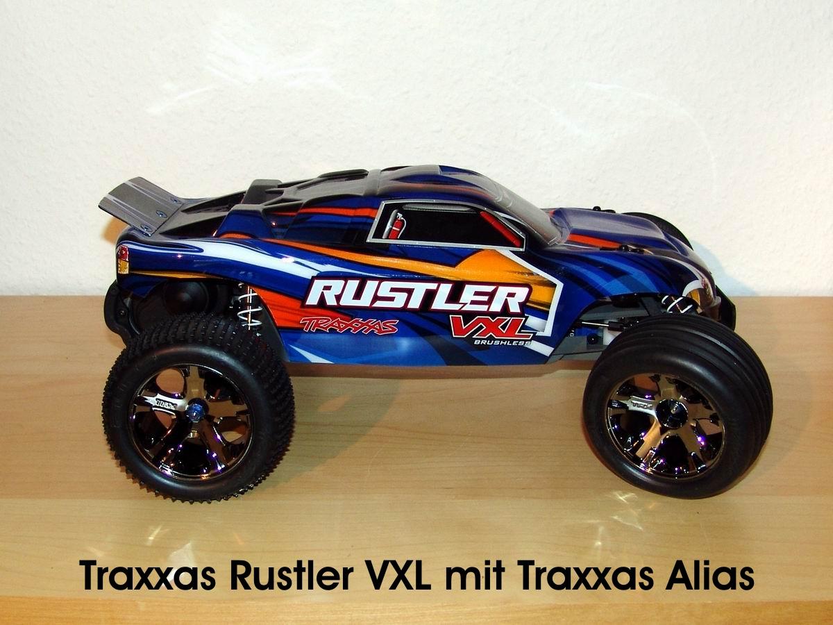 Traxxas Rustler VXL mit Traxxas Alias
