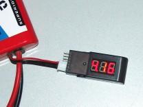 ACME 6STR LiPo-Tester: 4 - Anzeige der Spannung der ersten Zelle des Akkus