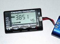 LiPo-Tester Capacity Controller CellMeter-7: Anzeige der Spannung der zweiten Zelle