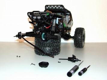 Axial Wraith: Demontage des vorderen Differentialgetriebes