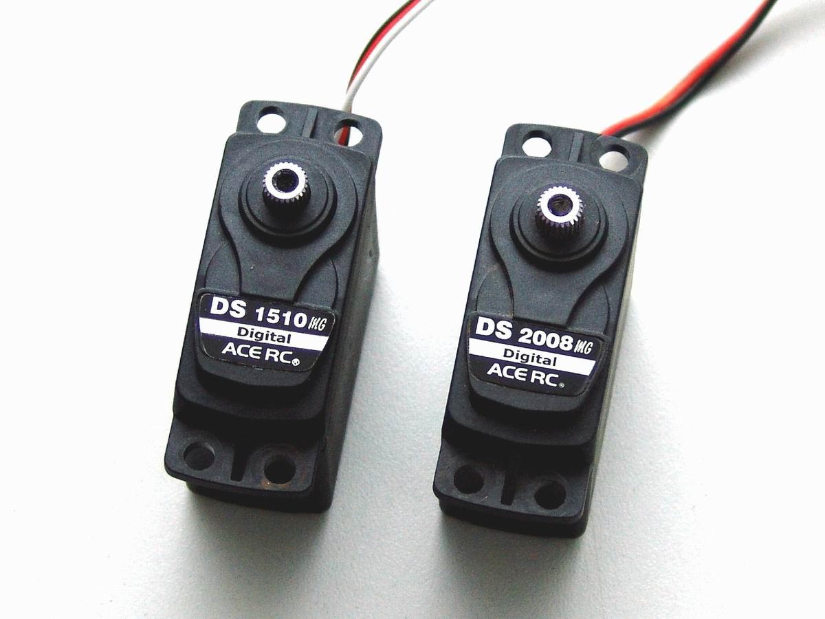 e-MTA Lenkservos ACE DS2008MG und DS1510MG