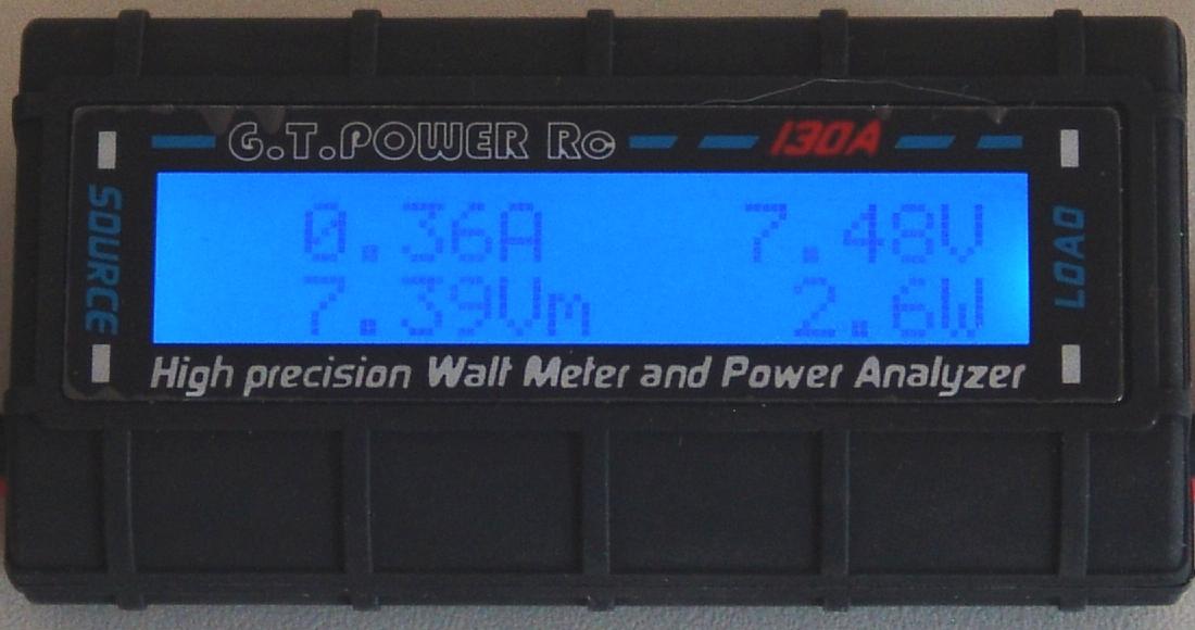Wattmeter: Anzeige der niedrigsten Spannung in Volt (V)