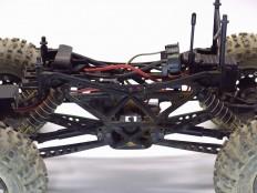 Axial AX10 Ridgecrest - Rahmen mit Akku vorne