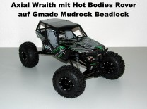 Axial Wraith mit Hot Bodies Rover auf Gmade Mudrock Beadlock