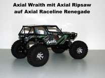 Axial Wraith mit Axial Ripsaw auf Axial Raceline Renegade (Serie)