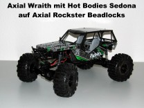 Axial Wraith mit Hot Bodies Sedona auf Axial Rockster Beadlock